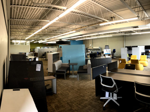 Panoramic view of Grand Forks showroom