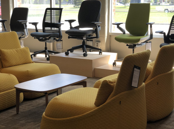 Coalesse hosu showroom lounge chairs