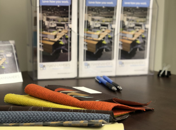 Details of material samples and brochures