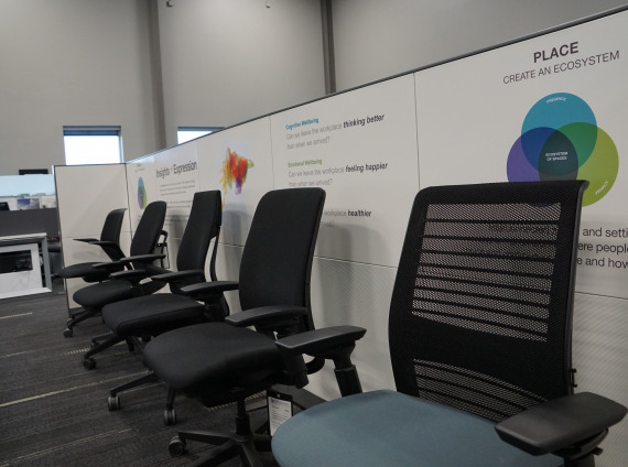 office chair seating display