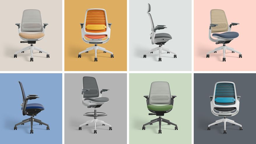 Steelcase Series 1 choices collage
