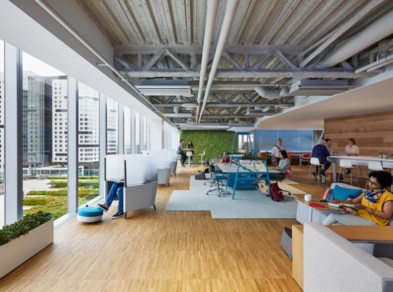 Corporate open office