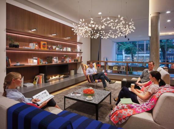 Hospitality lounge area