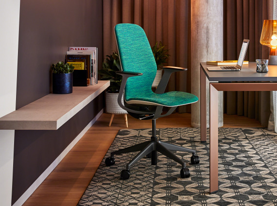 Home office with silq chair