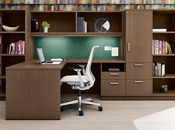 Private office with casegoods
