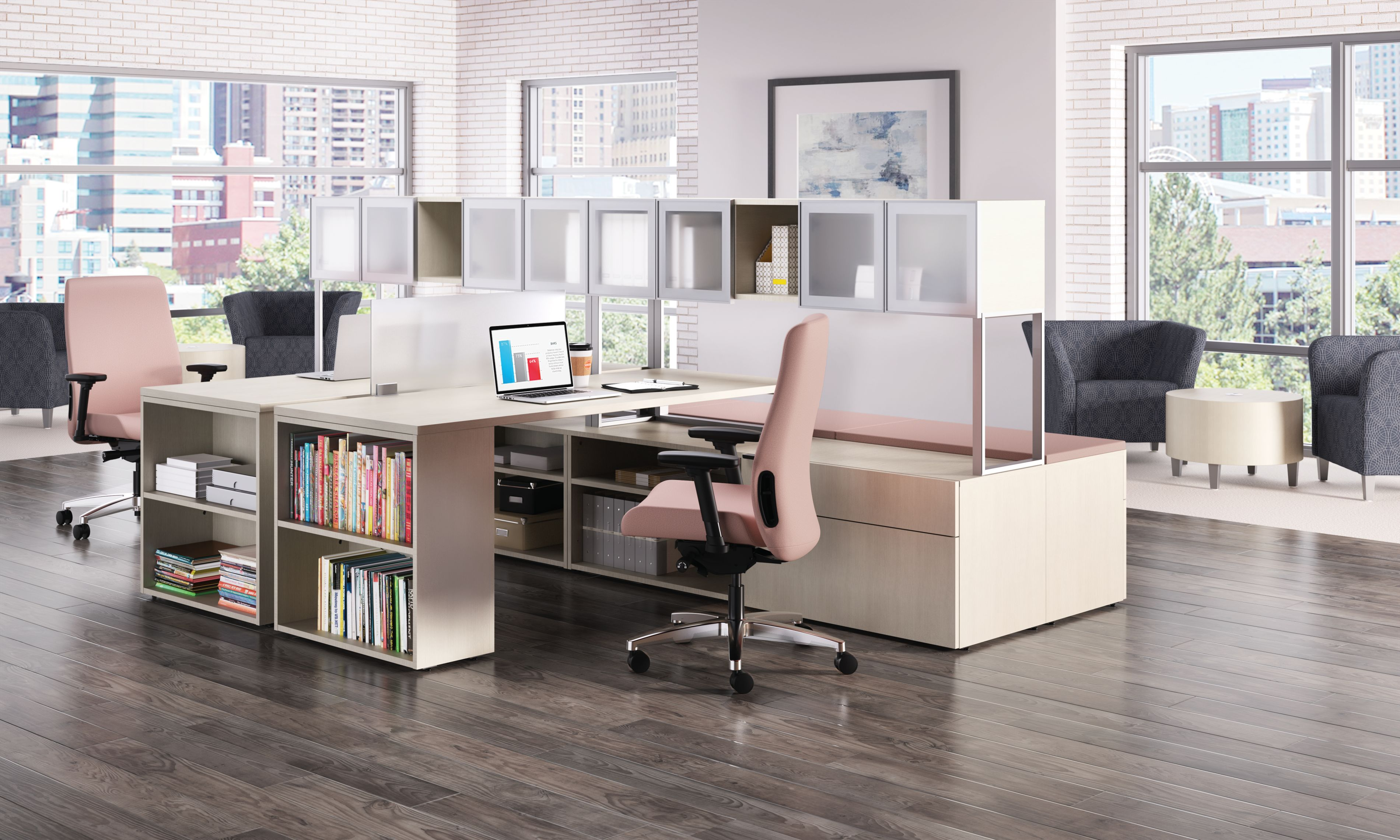 Endorse task chair and Voi Desk setting