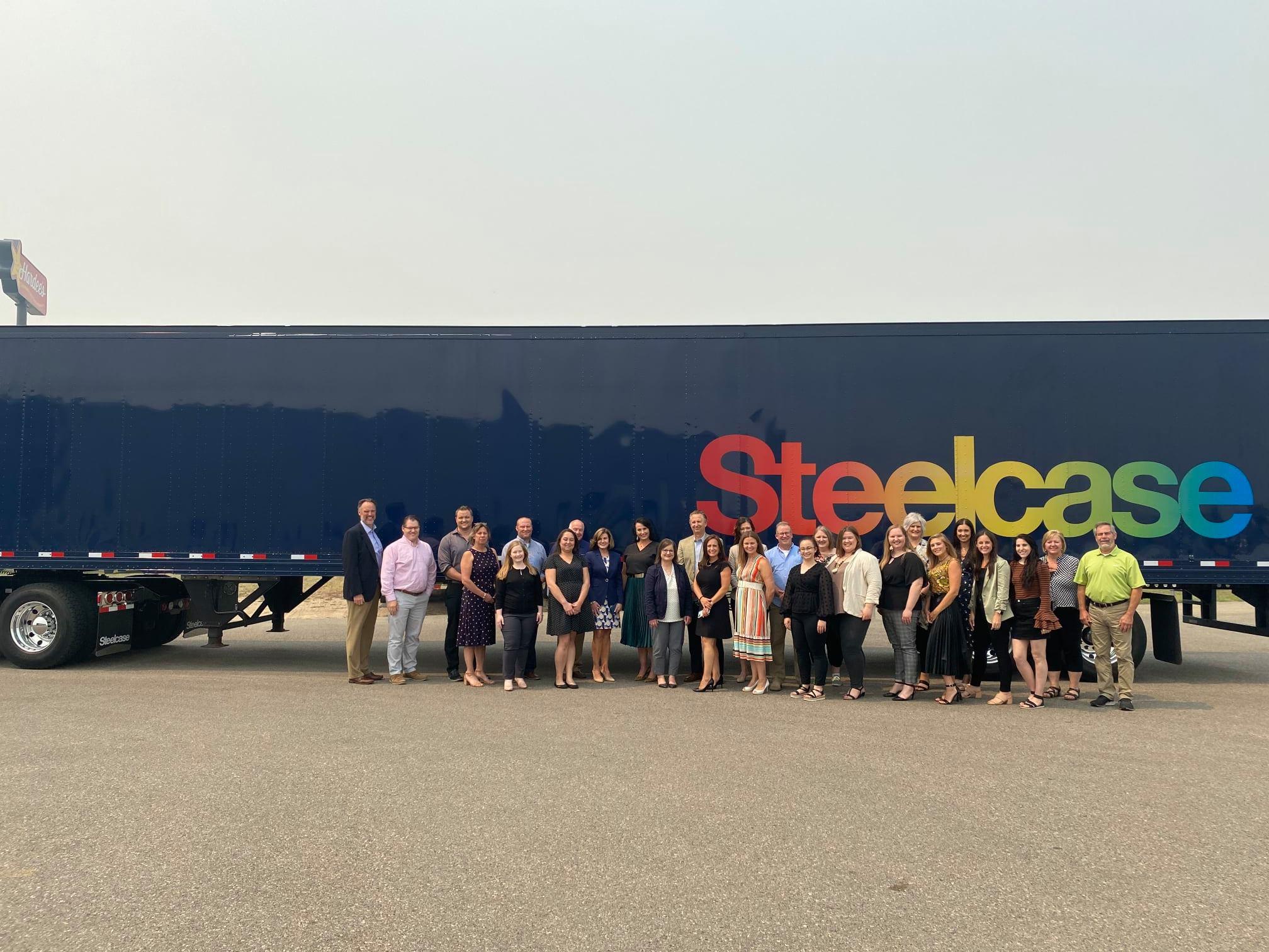 Team Steelcase Truck